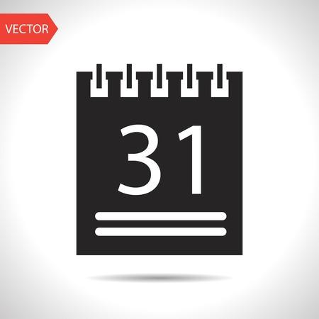 calendar icon: black icon of calendar