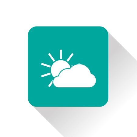 wheather forecast: Weather icon of sun and cloud.