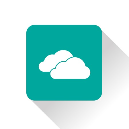 wheather forecast: Weather icon of clouds.