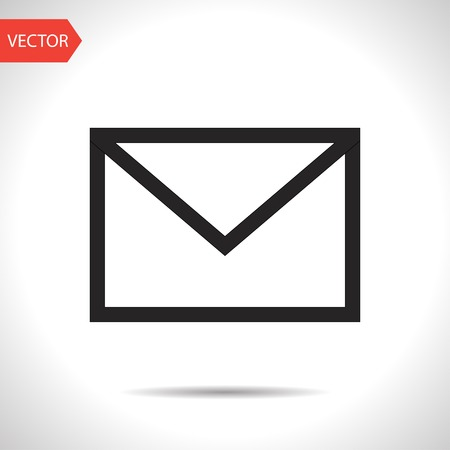 mail icon: black icon of mail Illustration