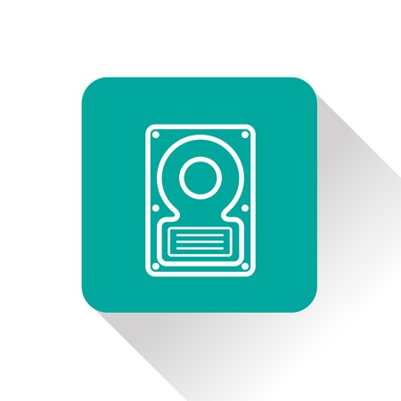 data storage device: icon of hard disk Illustration