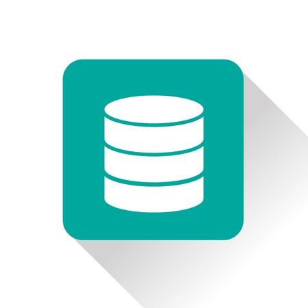 storage unit: icon of database Illustration
