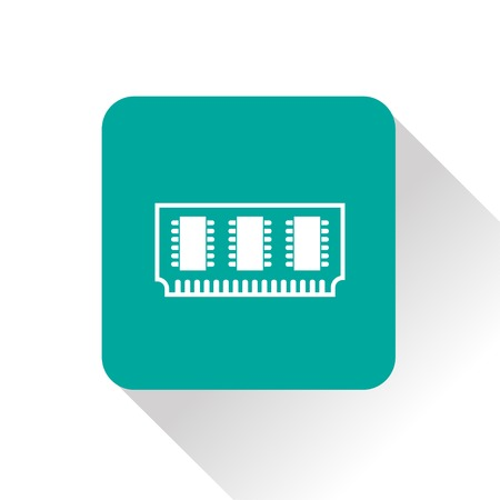 ddr: icon of memory chip Illustration