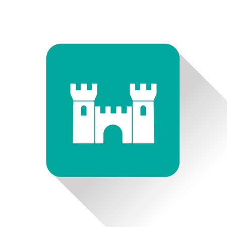 chateau: icon of castle Illustration