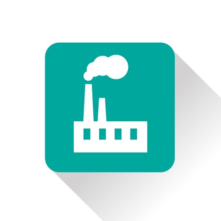 chemical structure: icon of factory Illustration