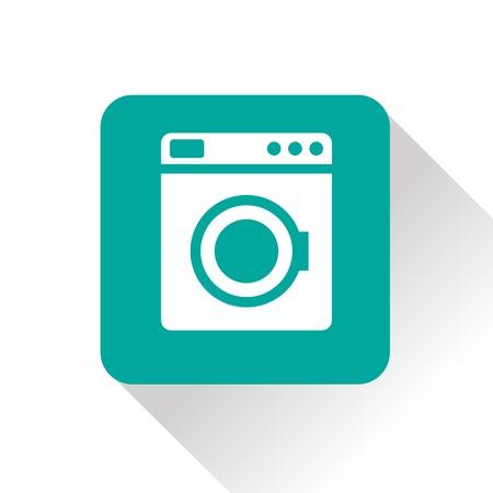 major household appliance: icon of washing machine Illustration
