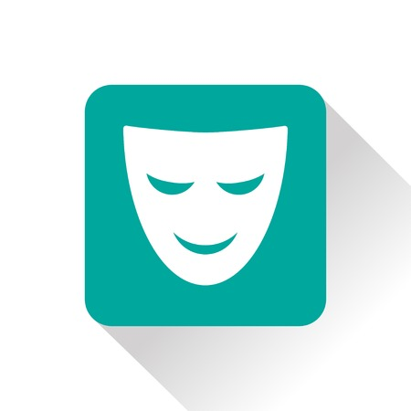 pantomime: theater mask icon