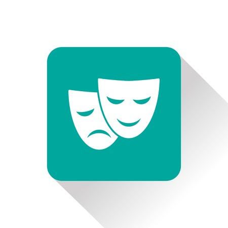 mascaras de teatro: máscaras de teatro icono Vectores
