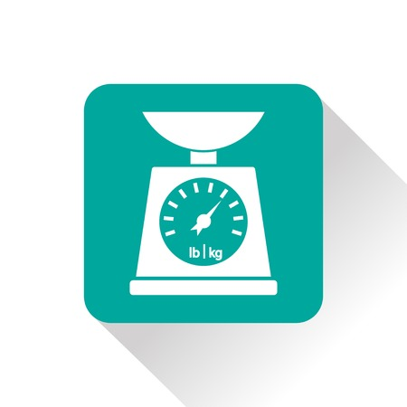 norm: Vector Kitchen scale icon on white background