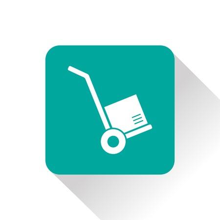 hand cart: transporte de carga con la mano la cesta Icono Vectores