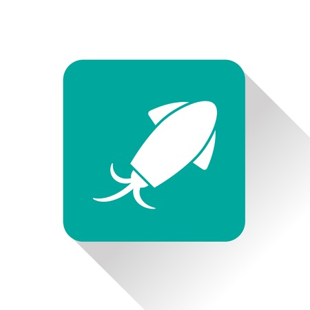 cuttlefish: Vector squid icon. Food icon. Eps10