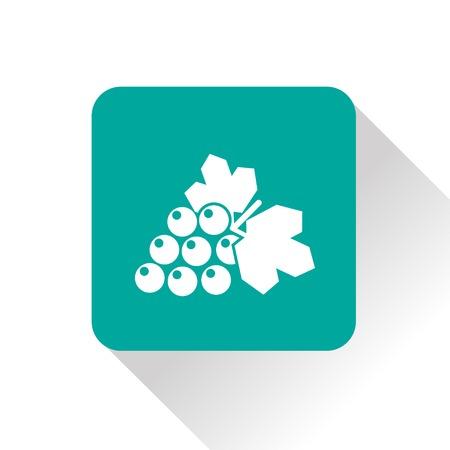 Vector grape icon. Food icon. Eps10