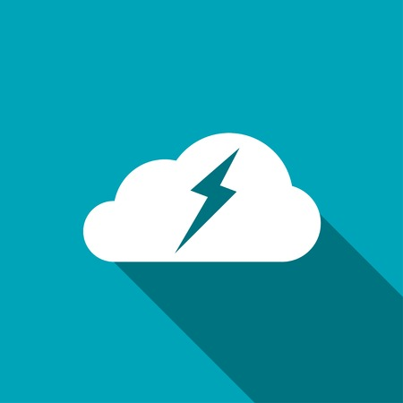 storm cloud: icon of cloud and lightning
