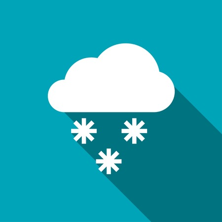 stormy clouds: icon of snow Illustration