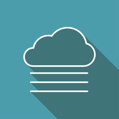 wheather: icon of foggy weather Illustration