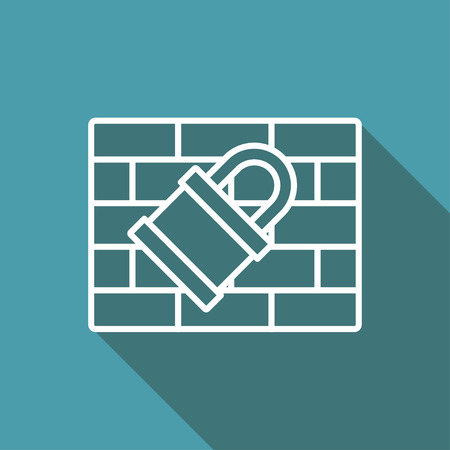 firewall: icon of firewall Illustration