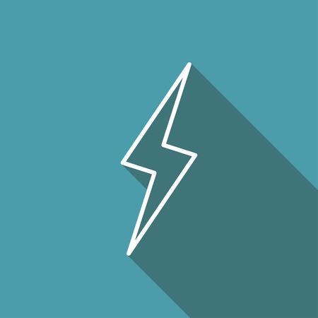 electrocute: icon of lightning Illustration