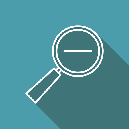 zoom out: icon of zoom out magnifying glass