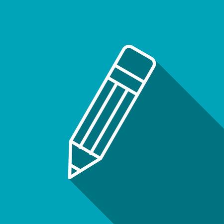 color pencil: icon of pencil Illustration