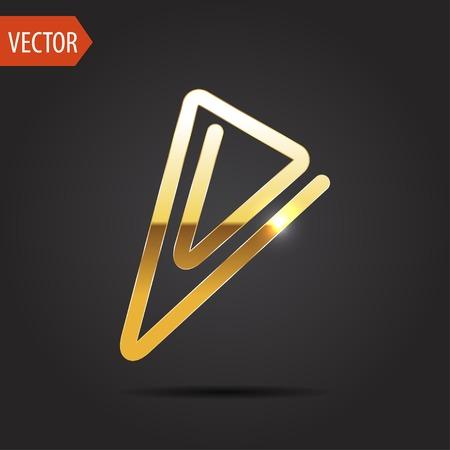 paper fastener: icon of paper clip Illustration