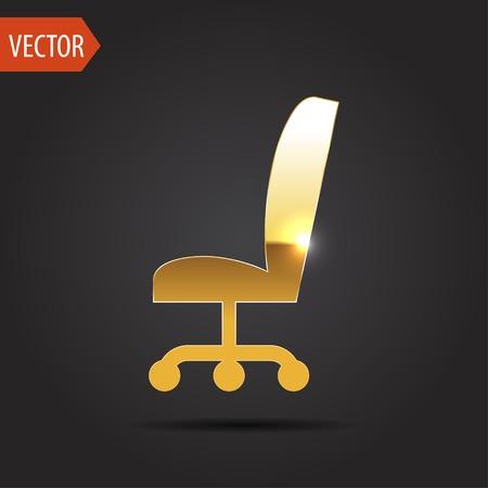 ergonomic: icon of office chair Illustration