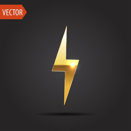 icon of lightning Иллюстрация