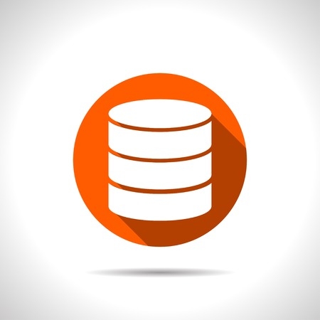 data storage device: icon of database Illustration