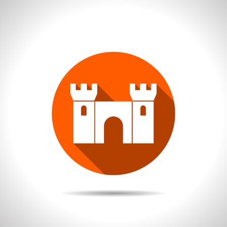 fortification: icon of castle Illustration