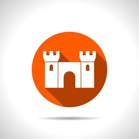 icon of castle Illustration