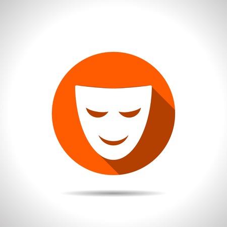theatre mask: theatre mask icon Illustration