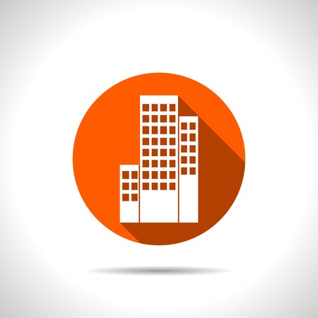group icon: buildings icon Illustration