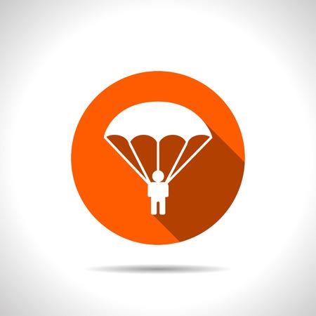 parachutist: Parachute sport illustration. parachutist icon