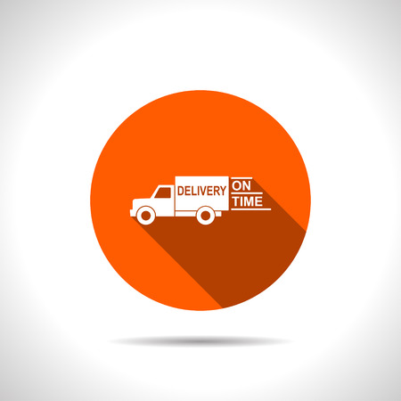 delivery truck icon Illustration