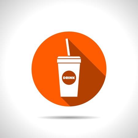coke: Vector drink icon. Food icon.