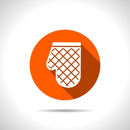 protective clothing: kitchen icon of potholder