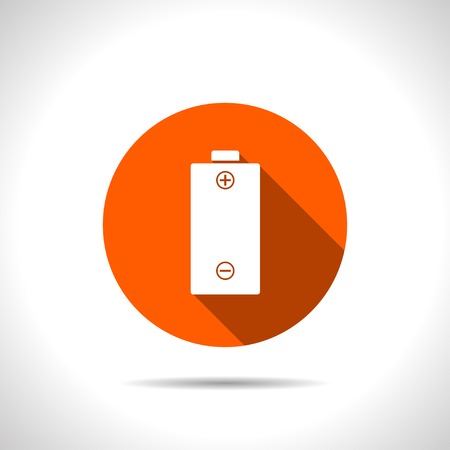 polarity: orange icon of battery
