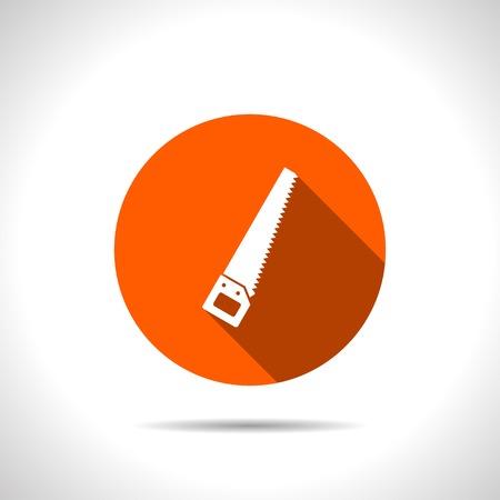crosscut: orange icon of hand saw