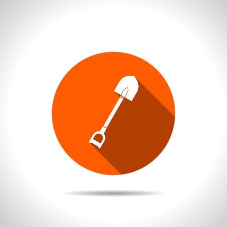 spade: orange icon of spade Illustration