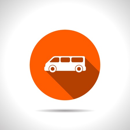 car engine: orange icon of car Illustration