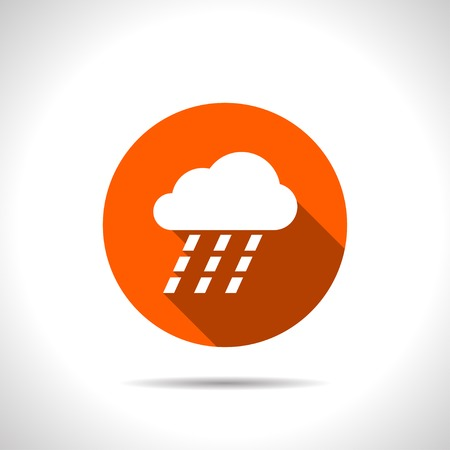 heavy rain: orange icon of heavy rain