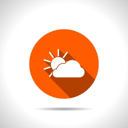 wheather forecast: orange icon of sun and cloud