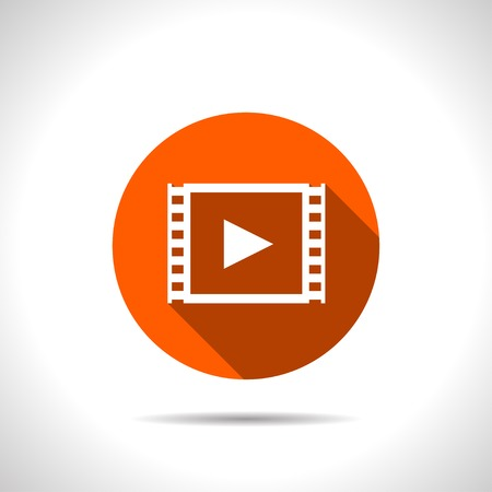 Orange Ikone der Video Standard-Bild - 43056430