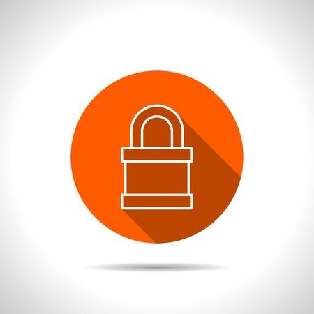 locked: icon of locked padlock Illustration
