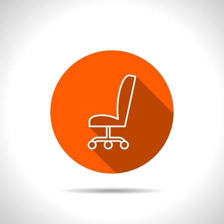 sedia ufficio: icona della sedia da ufficio