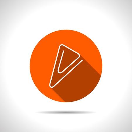 fastener: icon of paper clip Illustration
