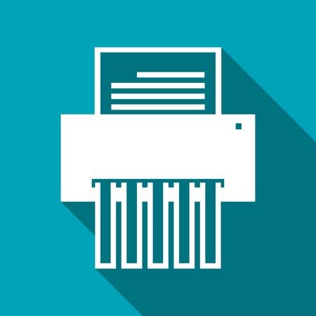 shredder machine: icon of shredder Illustration