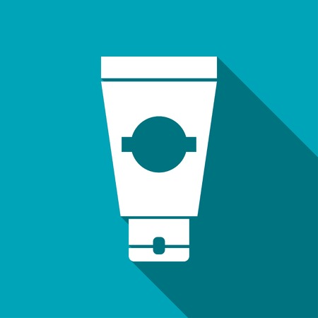 aftershave: icon of cream tube