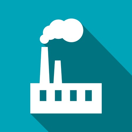 industrial buildings factory: icon of factory Illustration