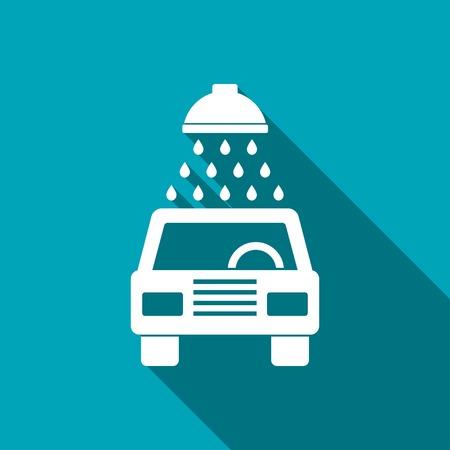 car wash: icon of car wash Illustration