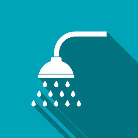 shower bath: icon of shower